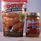 Hooters Chicken Wing Hot Sauce and Breading Combo
