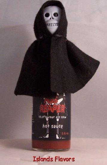 Ass Reaper Hot Sauce With Skull And Cape