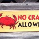 NO CRABS ALLOWED New Wood Tropical Beach Bar Sign