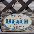 Welcome to The Beach Tropical Beach Bar Weathered Sign