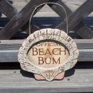 OFFICIAL BEACH BUM Tropical Tiki Beach Bar Sign