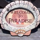 WELCOME TO PARADISE Tropical Tiki Beach Bar Sign