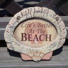 LIFE'S BETTER AT THE BEACH Tropical Tiki Beach Bar Sign