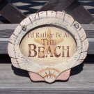 I'd Rather Be At The Beach Tropical Tiki Beach Bar Sign