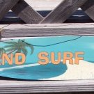 Sand Surf Sun Tropical Beach Bar Surfboard Metal Sign