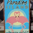Paradise Island Tropical Beach Bar Tiki Sign New