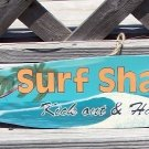 SURF SHACK Tropical Beach Bar Surfboard Sign