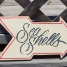 Sea Shells Arrow Sign Tropical Beach Bar Decor