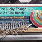 If Your Lucky Enough To Be At Beach Tropical Bar Sign