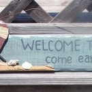Welcome Beach Come Early Stay Late Tropical Bar Sign