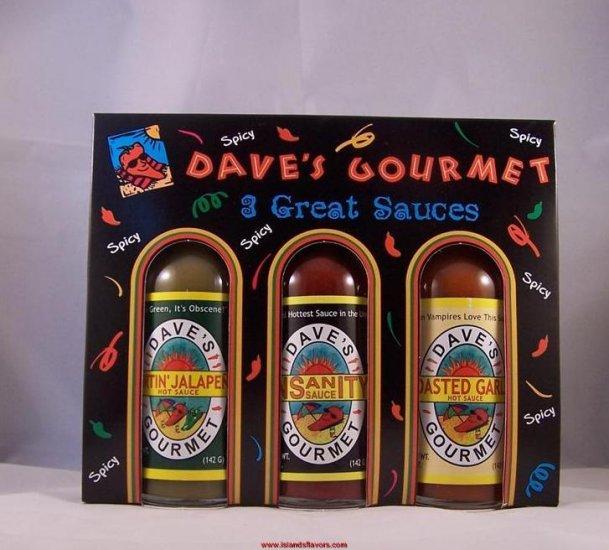 Dave's Daves Gourmet Insanity Hot Sauce 3 Great Sauces
