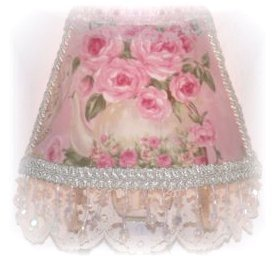 NEW! Lovely Lg PINK Teapot & Roses CHIC Night Light
