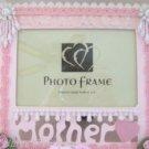 NEW! Lt Pink ROSES~Mother~Word Art 5x7 FRAME Glass GIFT