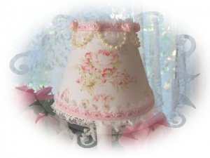 PINK ROSES Chandelier Shade Mary Rose PINKMini Lamp Shade