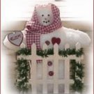 Cute Country Soft Sculpture Snowwoman WELCOME Gate