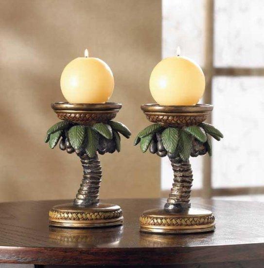 Coconut Tree Candleholders