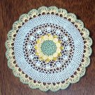 Floral Scalloped Hand Crochet Doily
