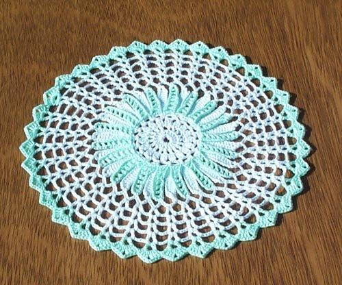 Mint Green Hand Crochet Doily - **NEW**