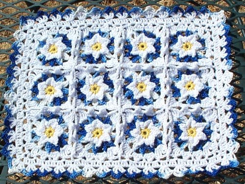 Denim & Daisies Hand Crochet Doily - **NEW**