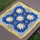 Pocketful of Daisies Hand Crochet Doily - **NEW**