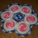 Red, White and Blue Patchwork Hand Crochet Doily - **NEW**