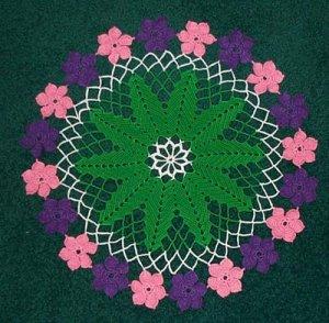 Hawaiian Lei Hand Crochet Doily - **NEW**