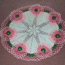 Ruffled Floral Hand Crochet Doily - Vintage Design - **NEW**