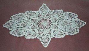 Pineapple Runner Hand Crocheted Doily - **NEW**