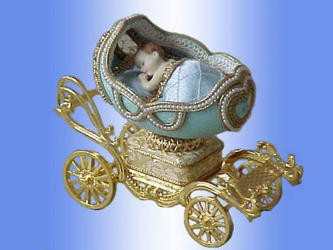 real goose egg jewellery box  with music box