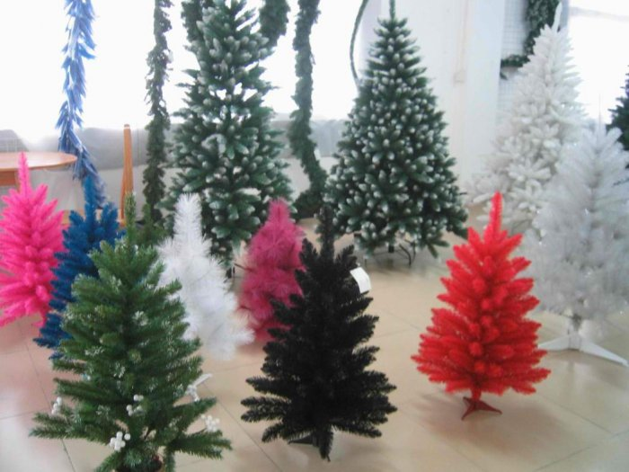 Black color christmas trees