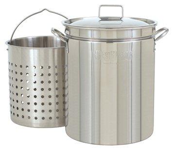 36-Qt. Stainless Fryer/Steamer w/ Lid & Basket