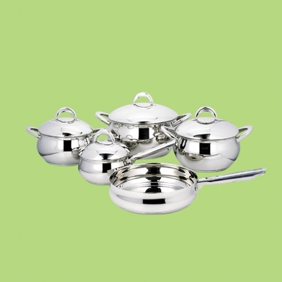 stainless steel apple pot set