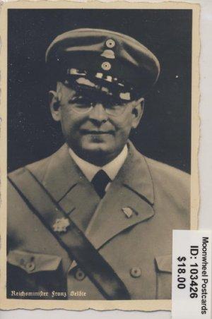 Propaganda. Reichsminister Franz Seldte.