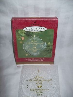 Hallmark Keepsake Ornament - Our First Christmas Together 2001