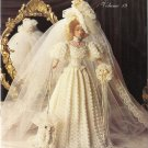 "Crochet Collector Costume PATTERN-1904 Gibson Girl Bride-11 1/2"" Fashion Doll-Ba"