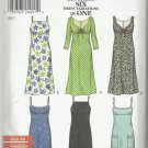 Pattern-NEW LOOK-Easy Options Six Dress Vari-Misses Summer Dress-Sizes 6-16