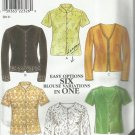 Plus Size Pattern-New Look-Easy Six Options Blouse Variations in One-Sz 10-22