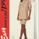 Plus Size Pattern-Stitch N Save-Misses Tunic & Skirt-Stretch Knits Only-Sz 18-24