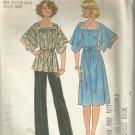 Vintage 1976 Pattern-Misses Pants-Pullover Dress /Top-Half Sizes-22 1/2--24 1/2