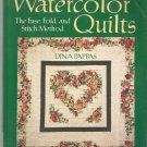 Quilt Patterns-Quick Watercolor Quilts-Fuse-Fold-Stitch Method-13 Quilts