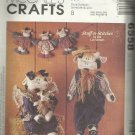 """Craft Pattern-22"""" Mr. & Mrs. Cow with Baby 7"""" Cow & Garland"""