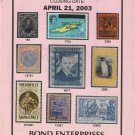 Book-Mail Sale #125-Featuring Worldwide Rare Stamps & Covers-April 21, 2003