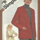 Vintage Pattern-Misses Jiffy Unlined Jacket in Size  12
