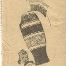 Vintage Alice Brooks-Knitted Mittens-Design  7088