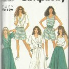 Pattern-Easy To Sew-Misses Culottes-Skirt-Tank Top-Jacket--Sizes 6-14   Summer