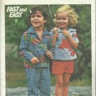 Vintage Pattern-Fast & Easy-Children's Top-Pants & Short- Sizes 6 X