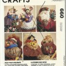 "Craft Pattern-Roly Poly Holiday Centerpieces-12"" Scarecrows-Garden Girl-Bunny-"
