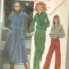 Vintage 1977 Pattern-Misses Hooded Unlined Jacket-Pants-Skirt-Size 10