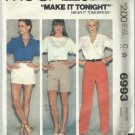 Vintage Pattern-McCall's Make-It Tonight Misses Pants Or Shorts-Size 14-Waist 28