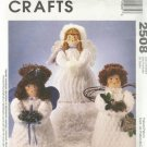 "Craft Pattern-14"" Chenille Angels by Michelle Hains-Adorable Christmas Angel Dol"